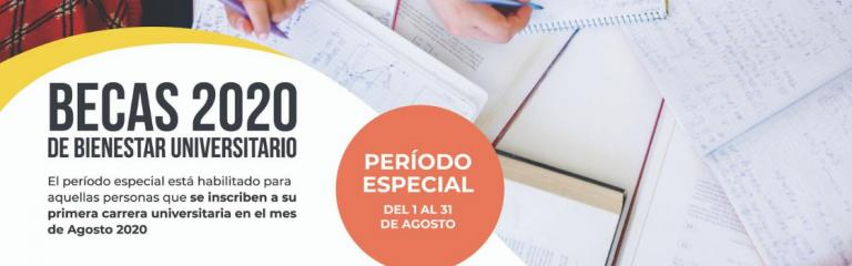 Bienestar Universitario habilita período especial para inscripción a becas