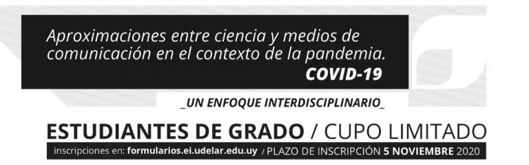 Curso: Aproximaciones entre ciencia y medios de comunicación en el contexto de pandemia